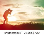 photographer silhouette take a... | Shutterstock . vector #291566720