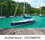 Yacht At Portofino Bay Ligurian ...