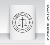 lawyer services. law office.... | Shutterstock .eps vector #291569906