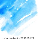 watercolor hand drawn blue... | Shutterstock .eps vector #291575774