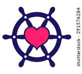 navy colored ship steering... | Shutterstock .eps vector #291576284