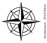 Antique Style Compass Rose Ico...
