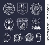 old brewery logos set. kraft... | Shutterstock .eps vector #291579590