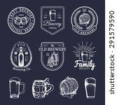 old brewery logos set. kraft... | Shutterstock .eps vector #291579590