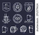 old brewery logos set. kraft... | Shutterstock .eps vector #291579614