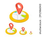 isometric icon location  flat... | Shutterstock .eps vector #291586043