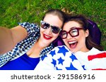 Two Hipster Girls Having Fun...