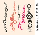 vector cogs   gears set | Shutterstock .eps vector #291592970