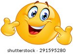 emoticon pointing at himself... | Shutterstock .eps vector #291595280