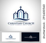 church logo design. creative... | Shutterstock .eps vector #291600560
