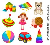 set of kid's toys