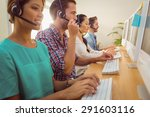 business team working together... | Shutterstock . vector #291603116