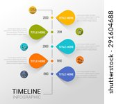 infographic template with time... | Shutterstock .eps vector #291604688