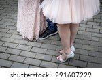 human feet dressed for the prom | Shutterstock . vector #291607229