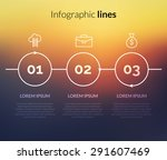 vector modern infographic with... | Shutterstock .eps vector #291607469