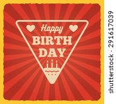 happy birthday vintage card.... | Shutterstock .eps vector #291617039