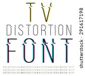 tv distortion thin font  three... | Shutterstock .eps vector #291617198