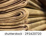 A Stack Of Old Newspapers. Can...