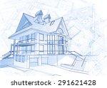 architecture design  blueprint  ... | Shutterstock . vector #291621428