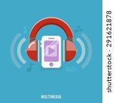 multimedia concept of music... | Shutterstock .eps vector #291621878