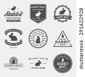 vector set of premium rabbit... | Shutterstock .eps vector #291622928