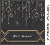 christmas postcard  art deco... | Shutterstock .eps vector #291623093