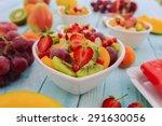 diet  healthy fruit salad  ... | Shutterstock . vector #291630056