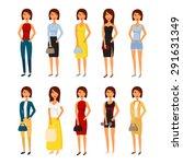 people character set. woman...   Shutterstock .eps vector #291631349