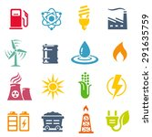 A Colorful Vector Icon Set Wit...