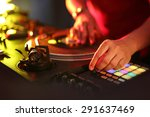 dj. hands dj mixing music at...   Shutterstock . vector #291637469