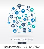 construction network. abstract... | Shutterstock .eps vector #291640769