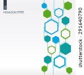 abstract hexagon background... | Shutterstock .eps vector #291640790