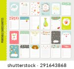 big set of romantic and cute... | Shutterstock .eps vector #291643868