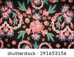 texture fabric chic floral style | Shutterstock . vector #291653156