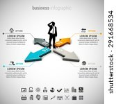 vector illustration of business ... | Shutterstock .eps vector #291668534