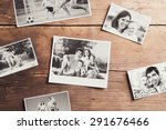 black and white family photos... | Shutterstock . vector #291676466