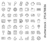 e commerce. outline web icons... | Shutterstock .eps vector #291678836