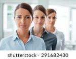 successful business women... | Shutterstock . vector #291682430