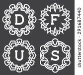 set of fashion monogram frames... | Shutterstock .eps vector #291687440