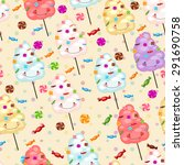 seamless pattern of sweets ... | Shutterstock . vector #291690758