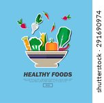 healthy foods | Shutterstock .eps vector #291690974