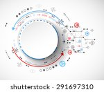 abstract technology concept of...   Shutterstock .eps vector #291697310