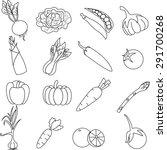 vegetable  icon set . | Shutterstock . vector #291700268