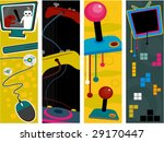 gaming vertical banners   vector