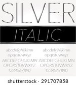 silver font   regular and... | Shutterstock .eps vector #291707858