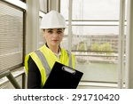 female building inspector | Shutterstock . vector #291710420