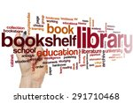library word cloud concept | Shutterstock . vector #291710468