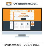 flat design elements template...