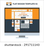 flat design template elements...