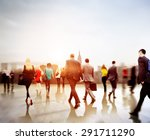 business people rush hour... | Shutterstock . vector #291711290
